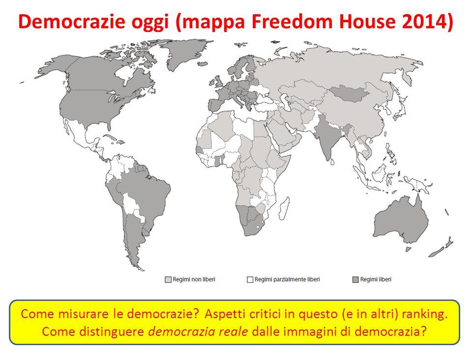 Democrazie oggi (mappa Freedom House 2014)