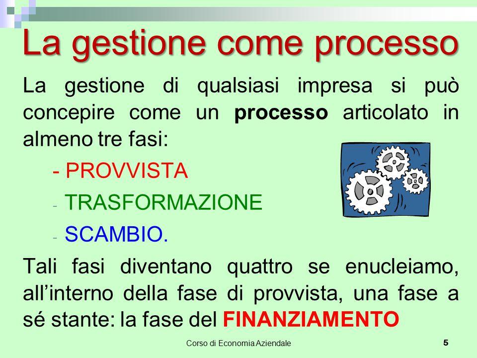 La gestione come processo