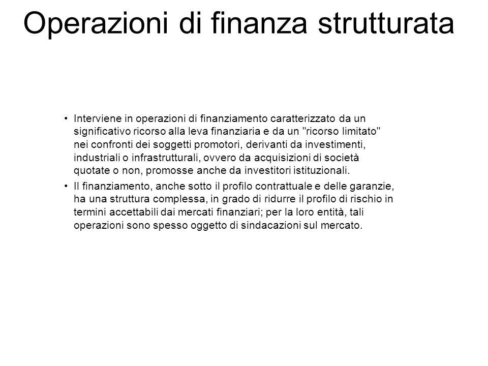 Operazioni di finanza strutturata