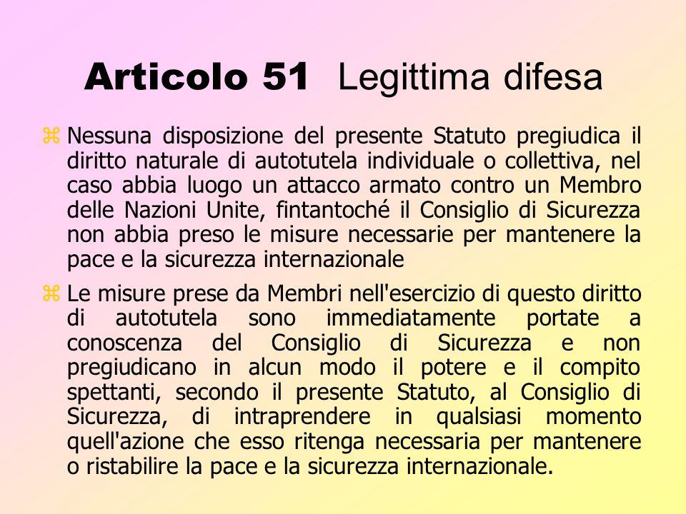 Articolo 51 Legittima difesa