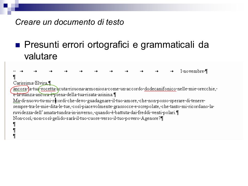 Creare un documento di testo
