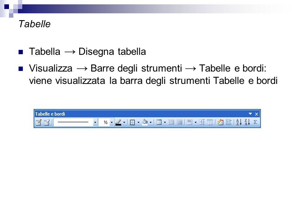 Tabelle Tabella → Disegna tabella.
