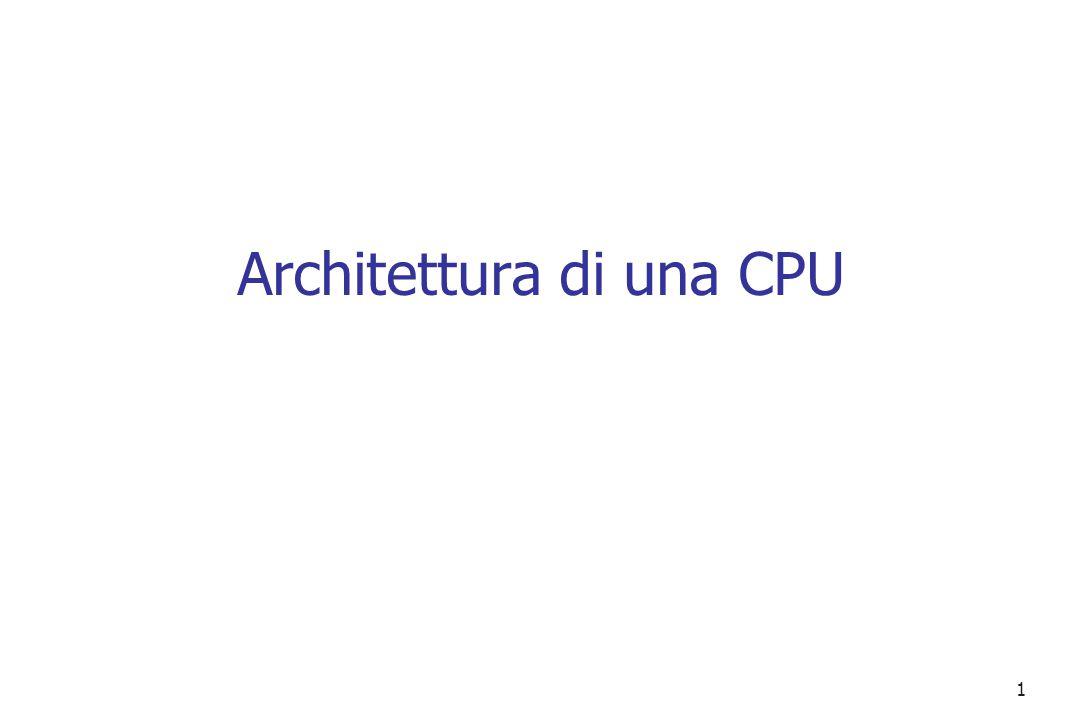 Architettura di una CPU