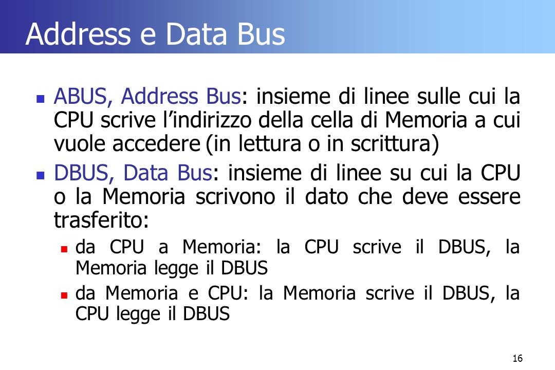Address e Data Bus