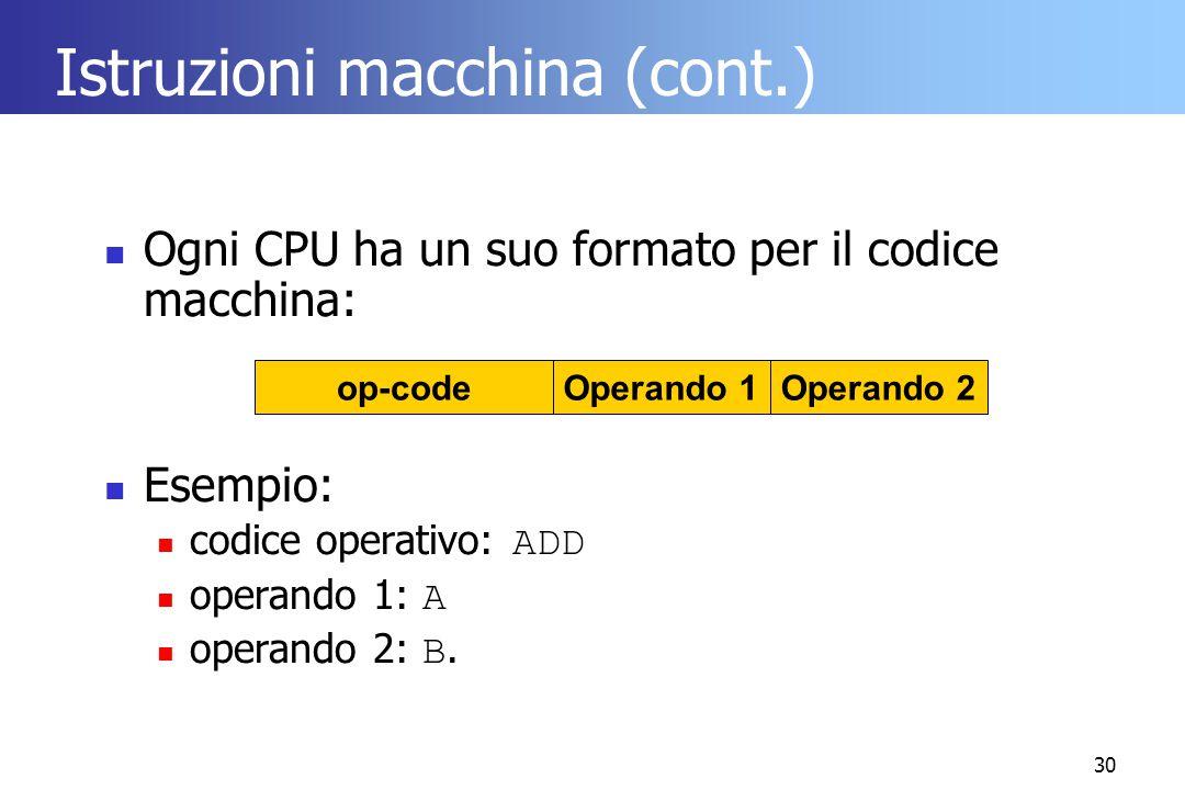 Istruzioni macchina (cont.)