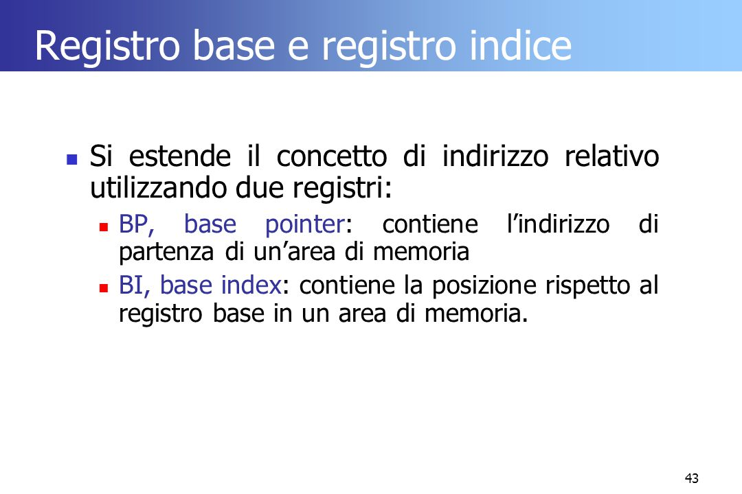 Registro base e registro indice