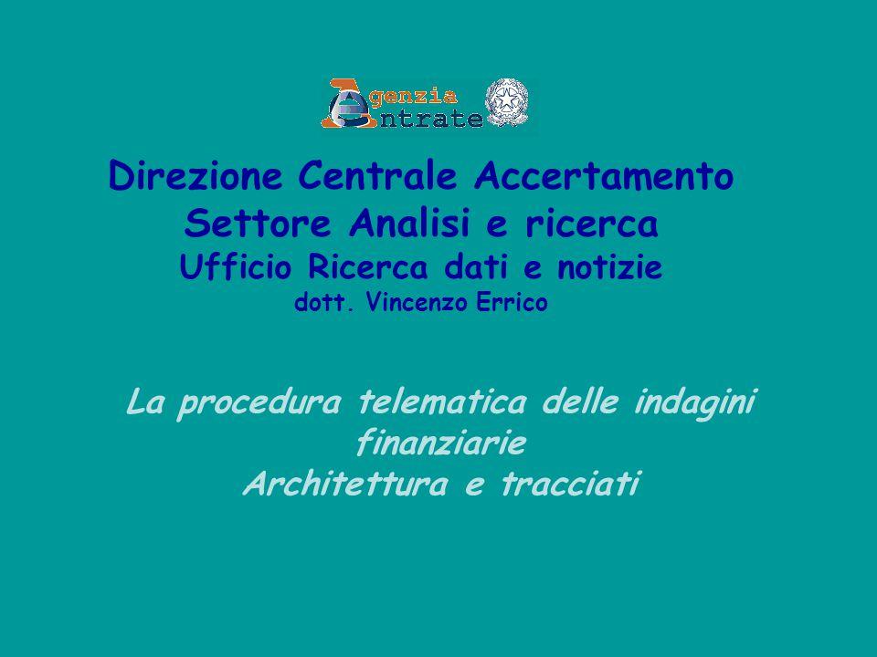 Direzione Centrale Accertamento Settore Analisi e ricerca