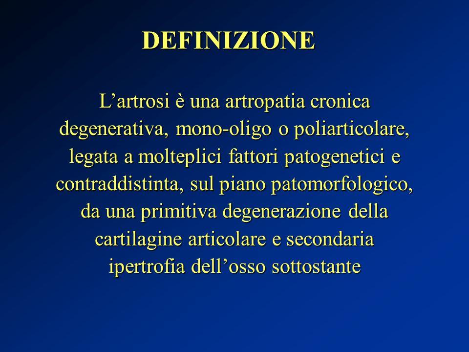 DEFINIZIONE L'artrosi è una artropatia cronica