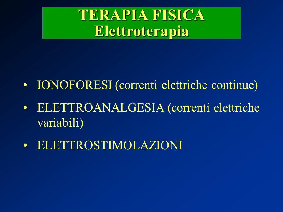 TERAPIA FISICA Elettroterapia