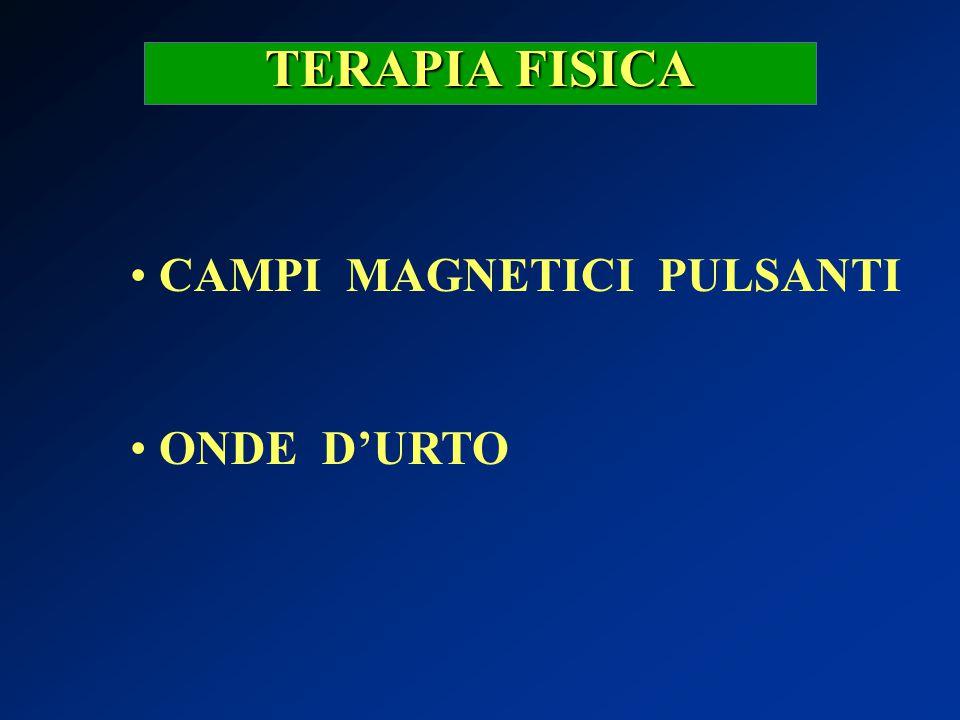 TERAPIA FISICA CAMPI MAGNETICI PULSANTI ONDE D'URTO