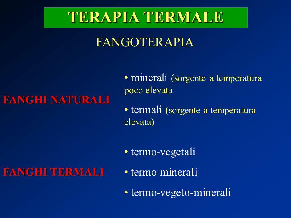 TERAPIA TERMALE FANGOTERAPIA