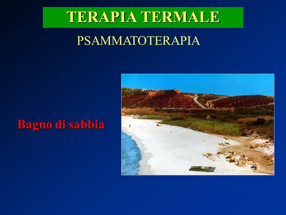 TERAPIA TERMALE PSAMMATOTERAPIA Bagno di sabbia