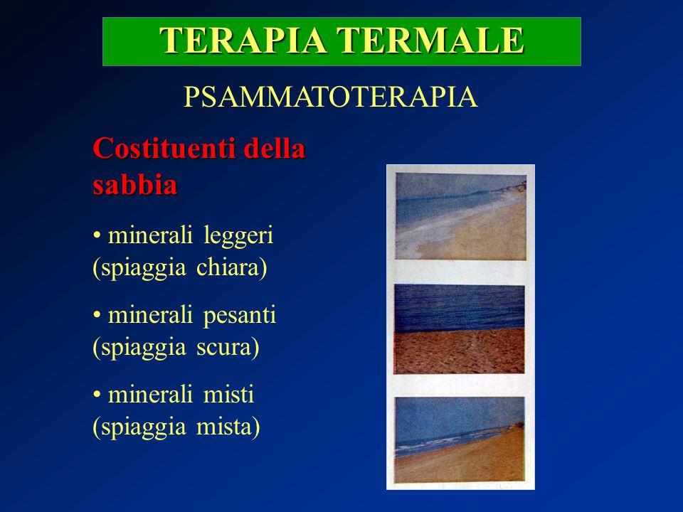 TERAPIA TERMALE PSAMMATOTERAPIA Costituenti della sabbia