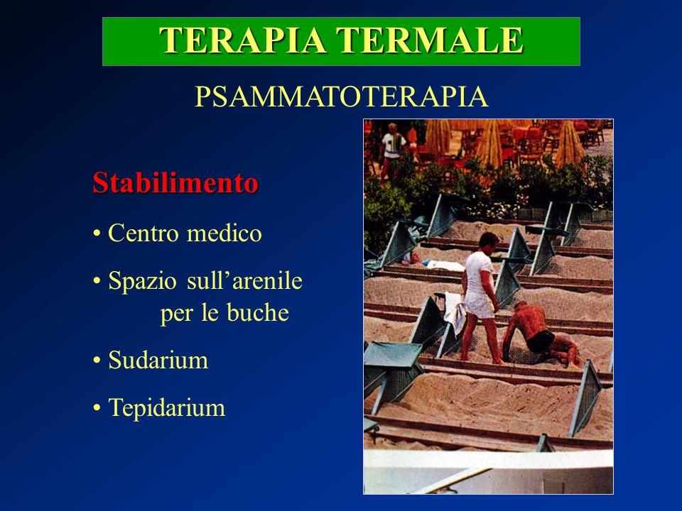 TERAPIA TERMALE PSAMMATOTERAPIA Stabilimento Centro medico