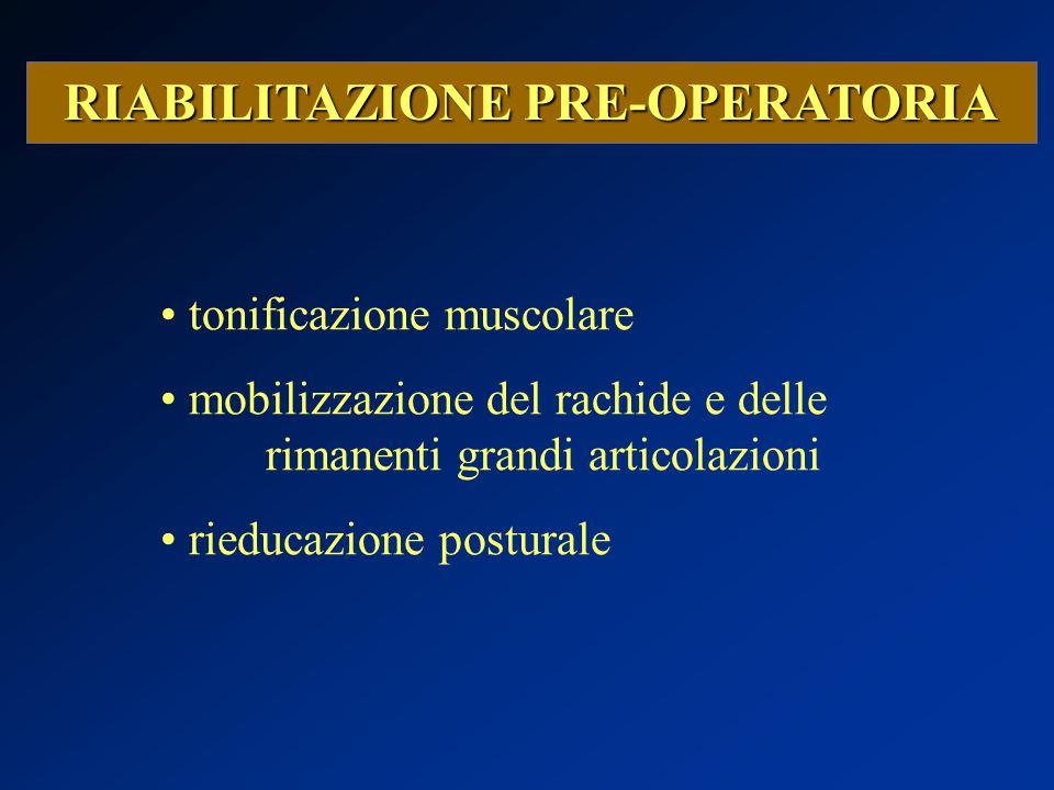 RIABILITAZIONE PRE-OPERATORIA