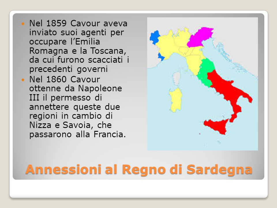 Annessioni al Regno di Sardegna