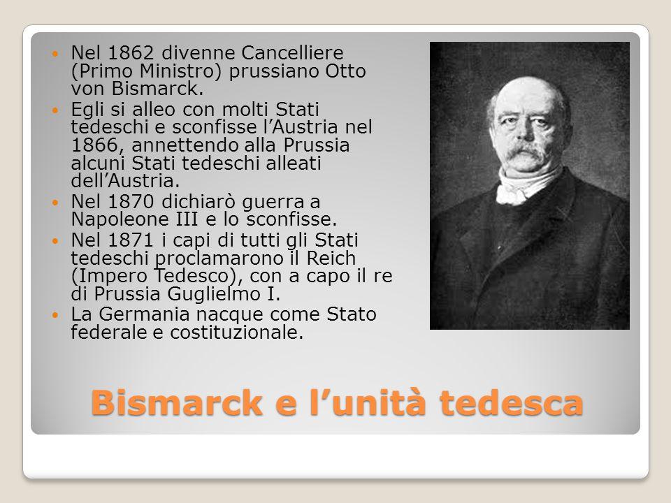 Bismarck e l'unità tedesca