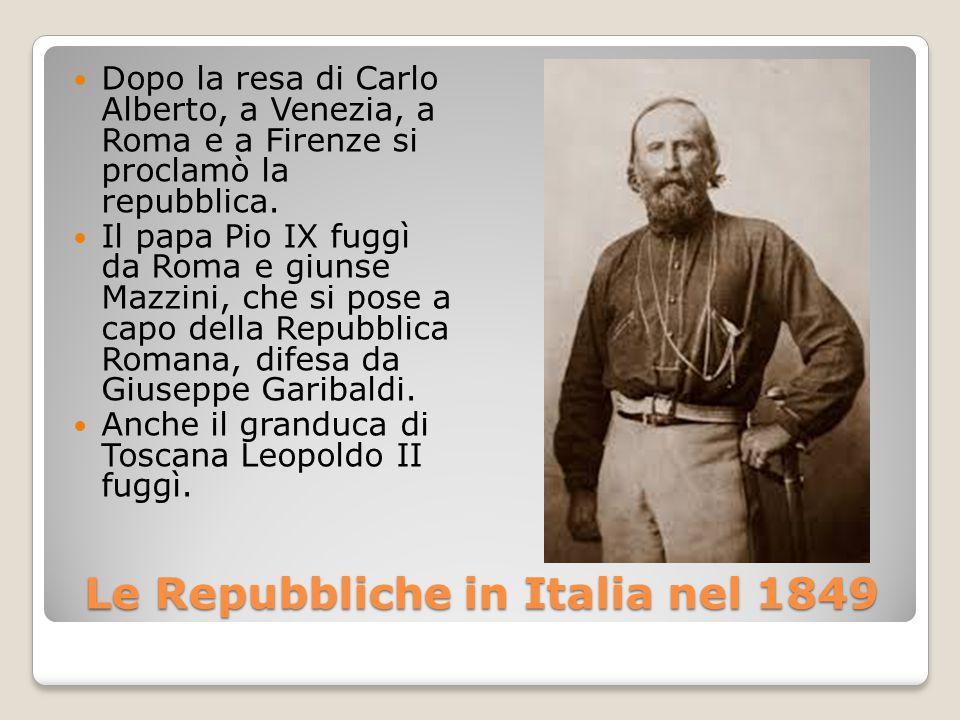 Le Repubbliche in Italia nel 1849