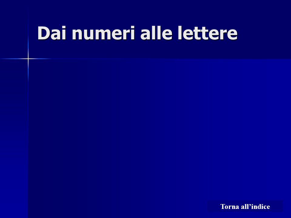 Dai numeri alle lettere