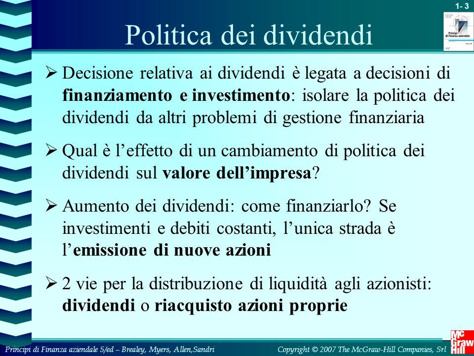 Politica dei dividendi