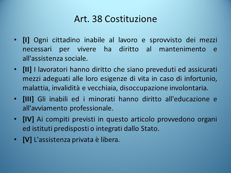 Art. 38 Costituzione