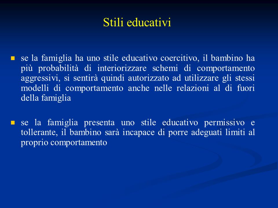 Stili educativi