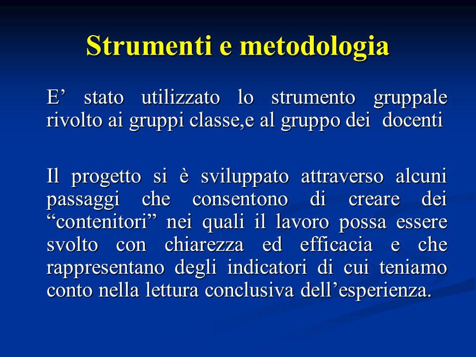 Strumenti e metodologia