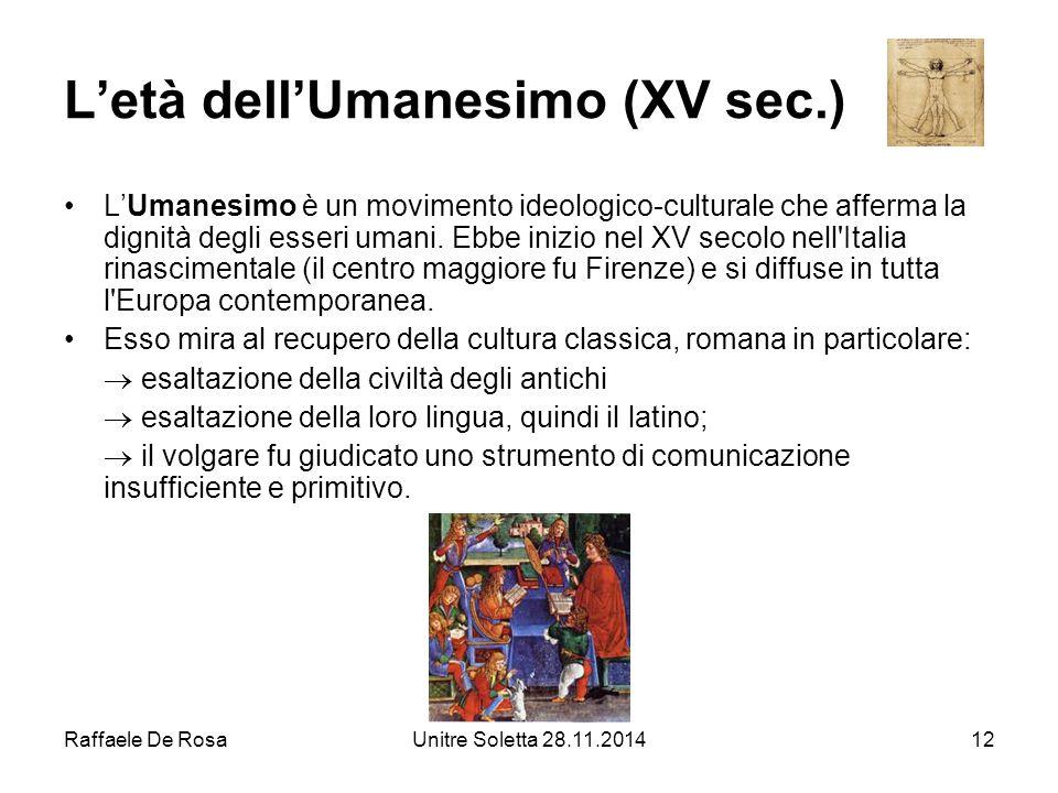 L'età dell'Umanesimo (XV sec.)