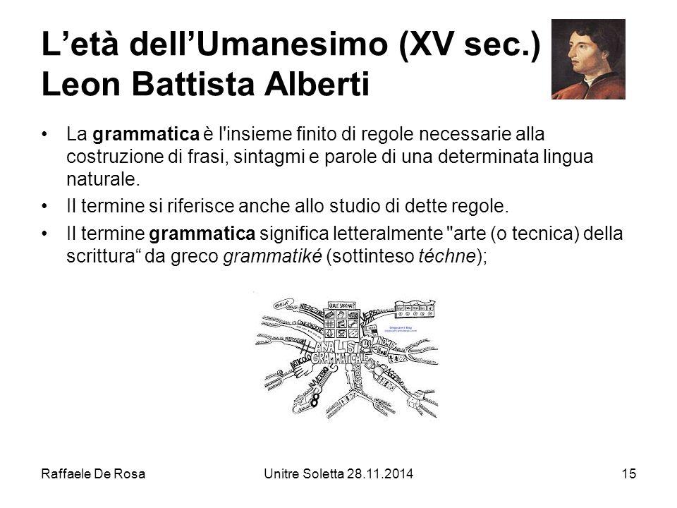 L'età dell'Umanesimo (XV sec.) Leon Battista Alberti