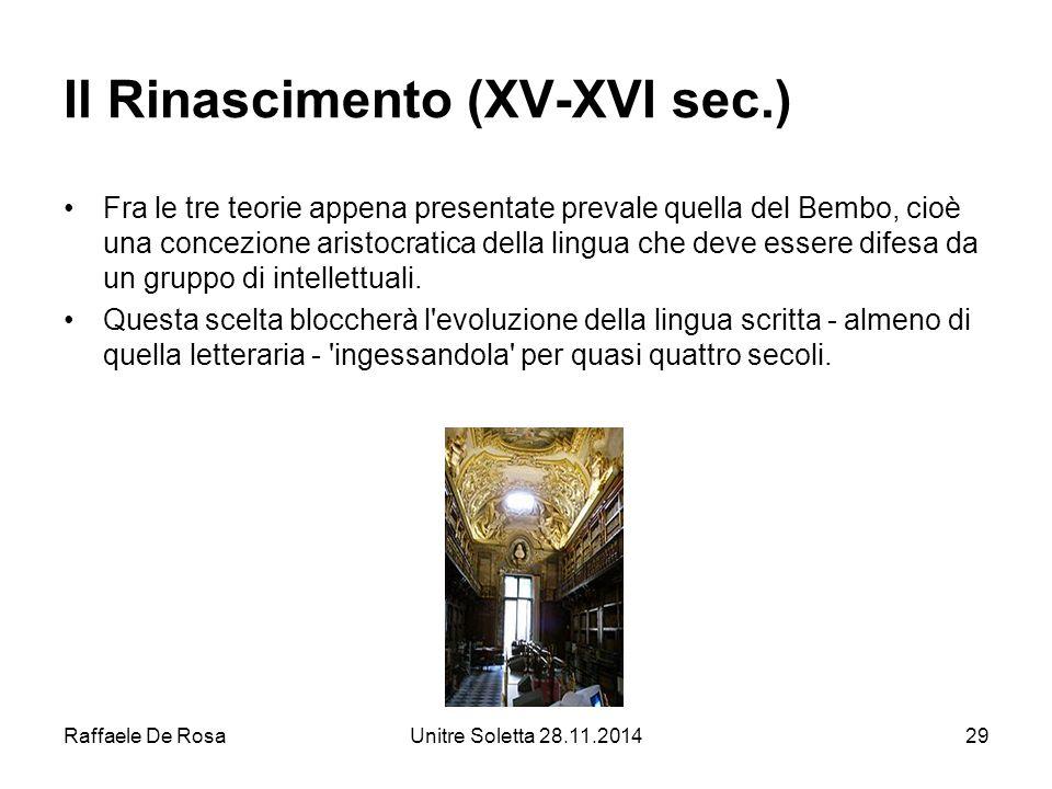 Il Rinascimento (XV-XVI sec.)