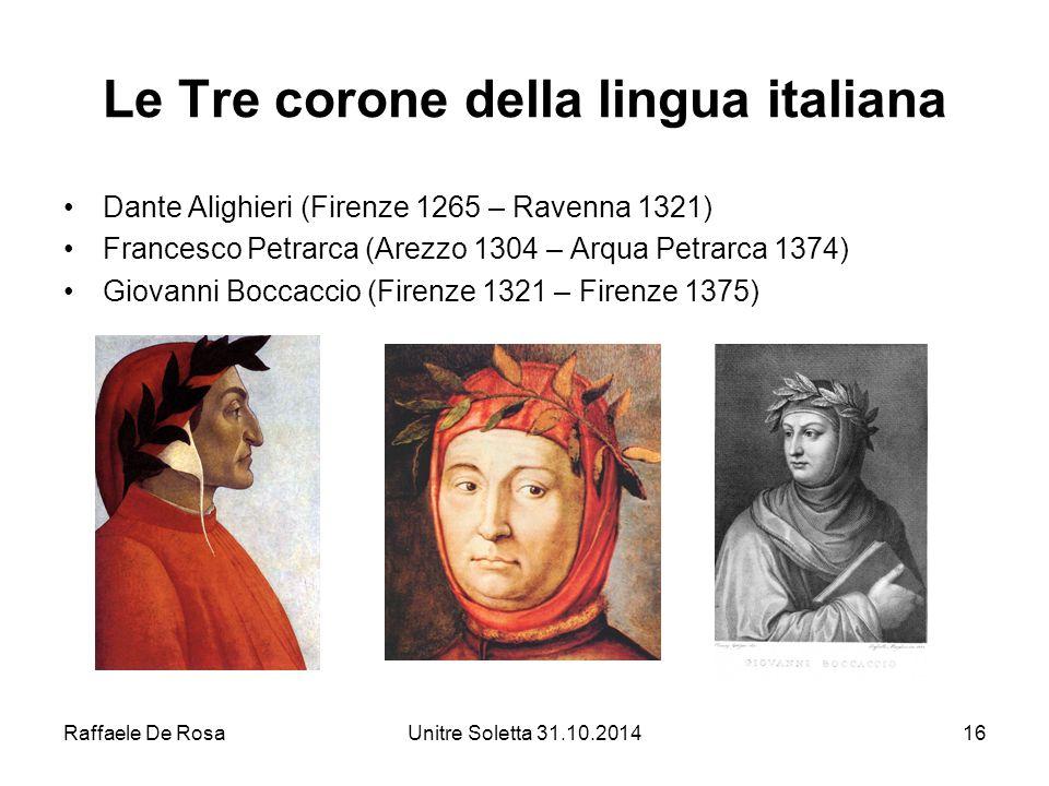 Le Tre corone della lingua italiana