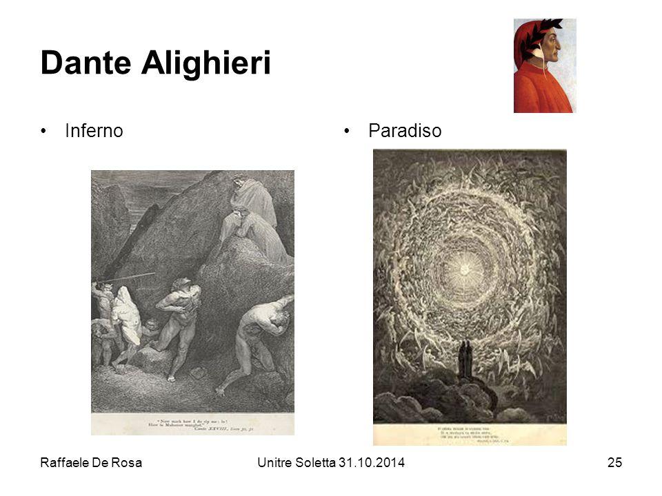 Dante Alighieri Inferno Paradiso Raffaele De Rosa