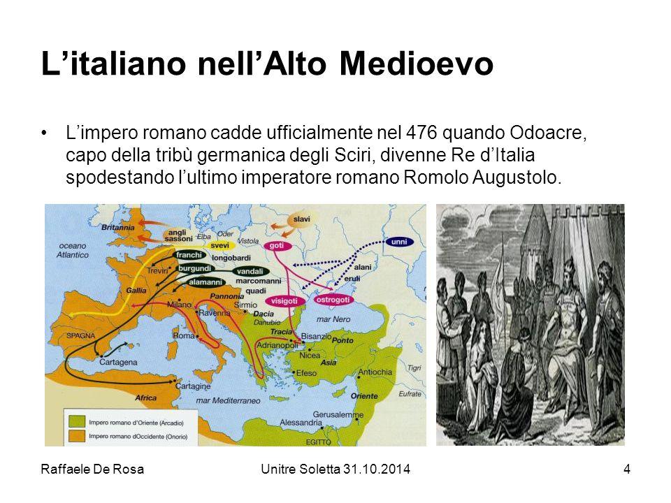 L'italiano nell'Alto Medioevo