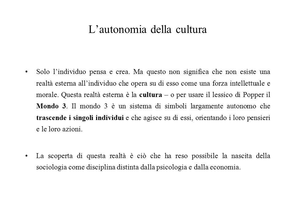 L'autonomia della cultura