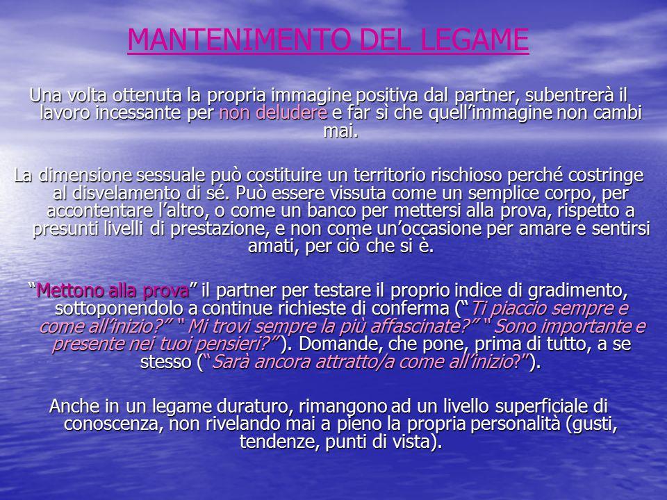 MANTENIMENTO DEL LEGAME