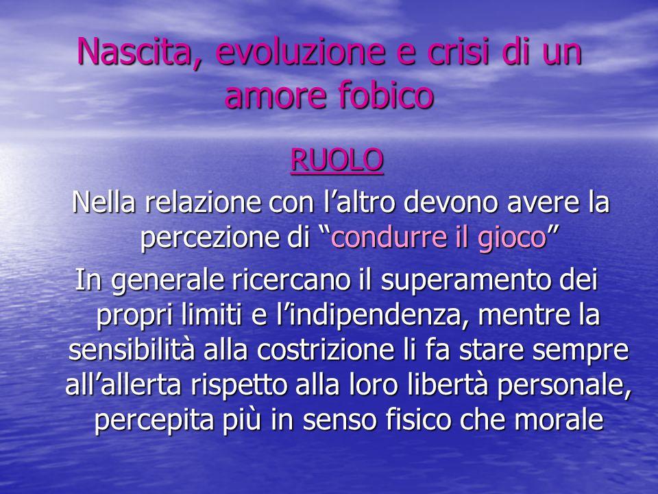Nascita, evoluzione e crisi di un amore fobico