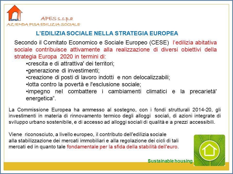 L'EDILIZIA SOCIALE NELLA STRATEGIA EUROPEA