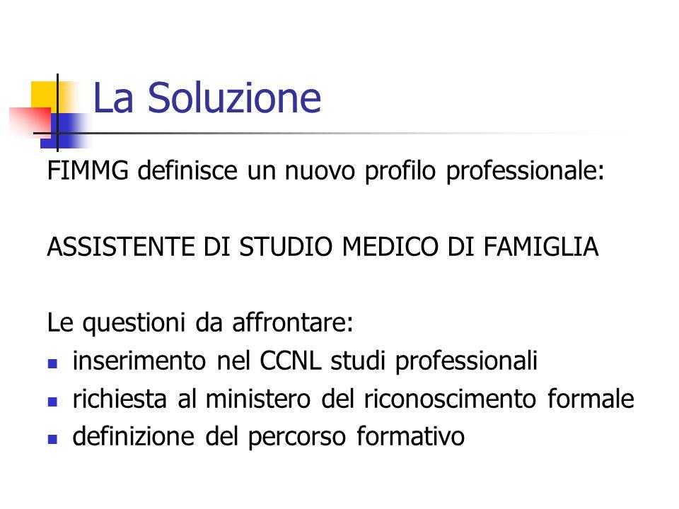 La Soluzione FIMMG definisce un nuovo profilo professionale: