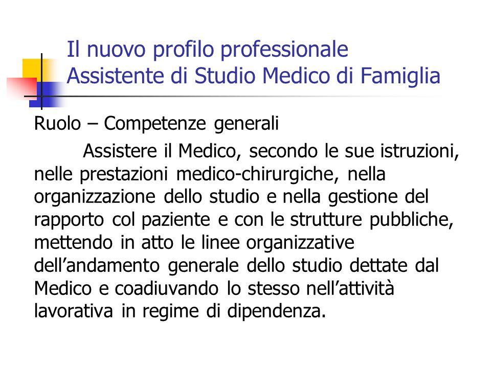 Il nuovo profilo professionale Assistente di Studio Medico di Famiglia