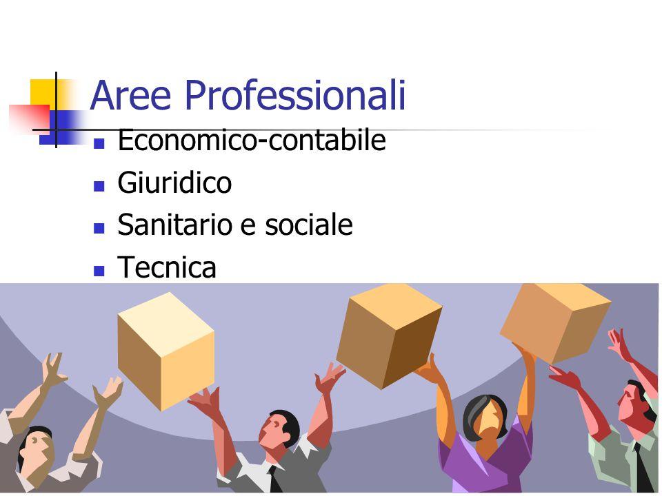 Aree Professionali Economico-contabile Giuridico Sanitario e sociale