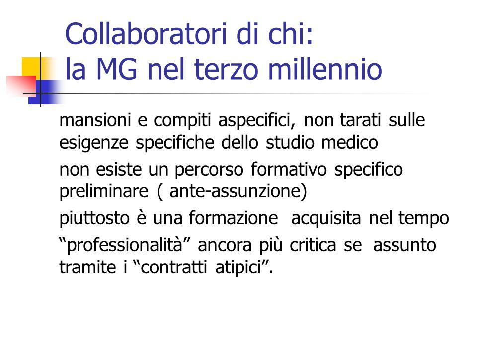 Collaboratori di chi: la MG nel terzo millennio