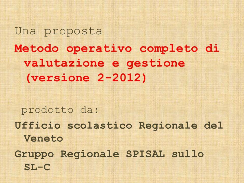 Metodo operativo completo di valutazione e gestione (versione 2-2012)