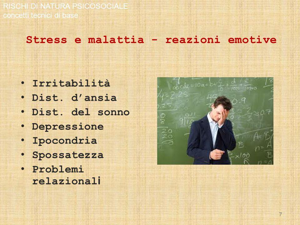 Stress e malattia - reazioni emotive