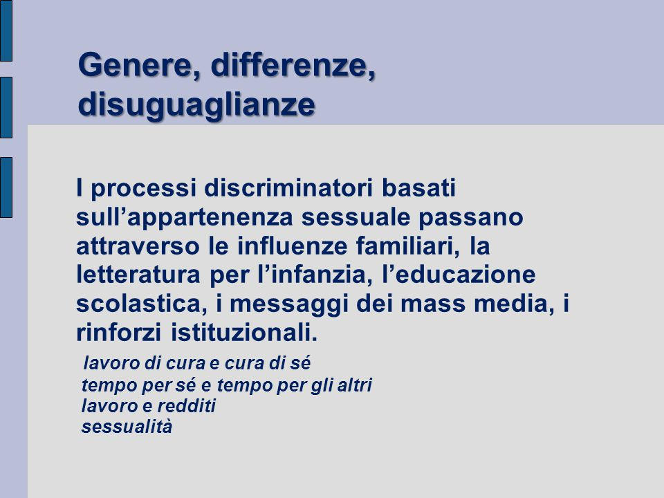 Genere, differenze, disuguaglianze