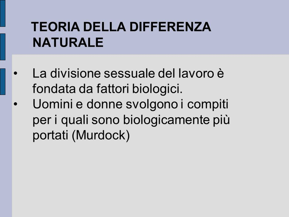 TEORIA DELLA DIFFERENZA NATURALE