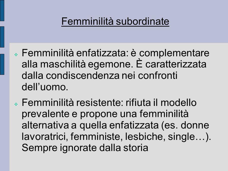Femminilità subordinate