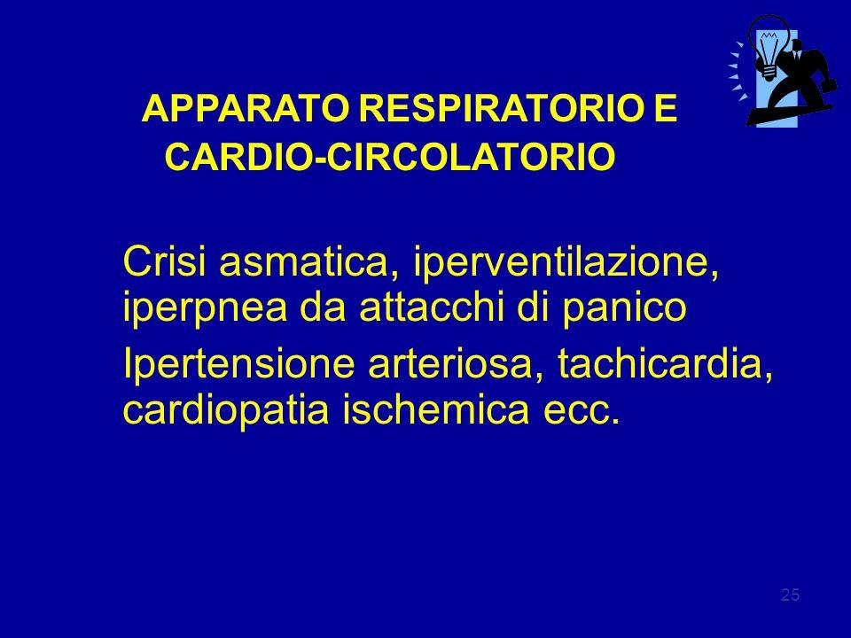 Crisi asmatica, iperventilazione, iperpnea da attacchi di panico