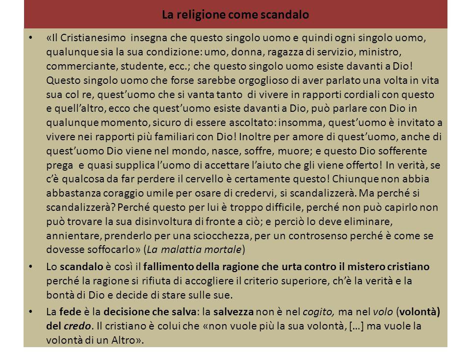 La religione come scandalo
