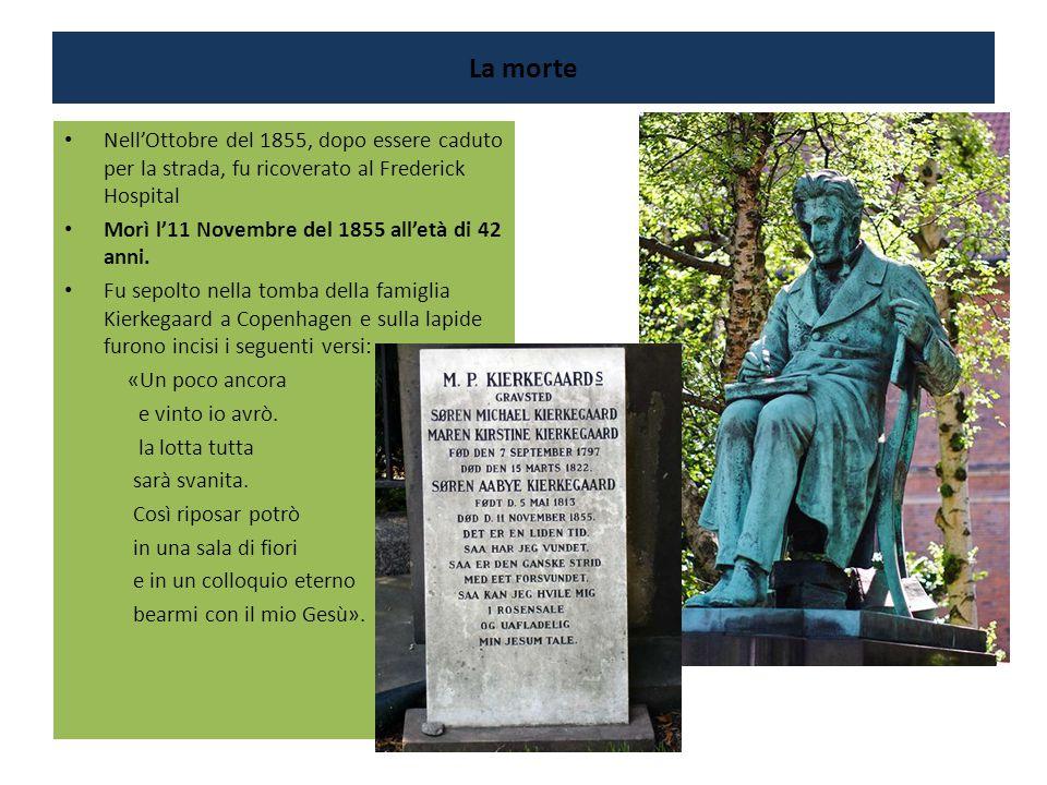 La morte Nell'Ottobre del 1855, dopo essere caduto per la strada, fu ricoverato al Frederick Hospital.