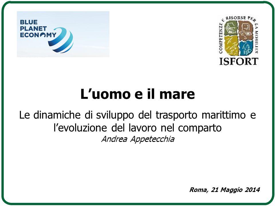 L'uomo e il mare Le dinamiche di sviluppo del trasporto marittimo e l'evoluzione del lavoro nel comparto.